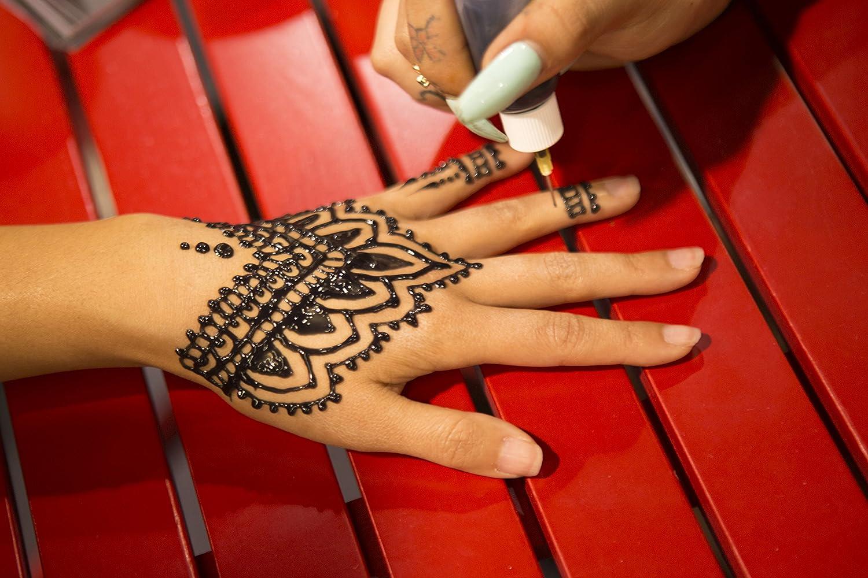 Mehndi Henna Kit Review : Amazon.com : organic jagua black temporary tattoo and body painting