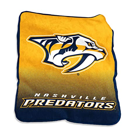 Image Unavailable. Image not available for. Color  NHL Nashville Predators Plush  Raschel Throw with Large Logo Blanket ... a97aaaca0