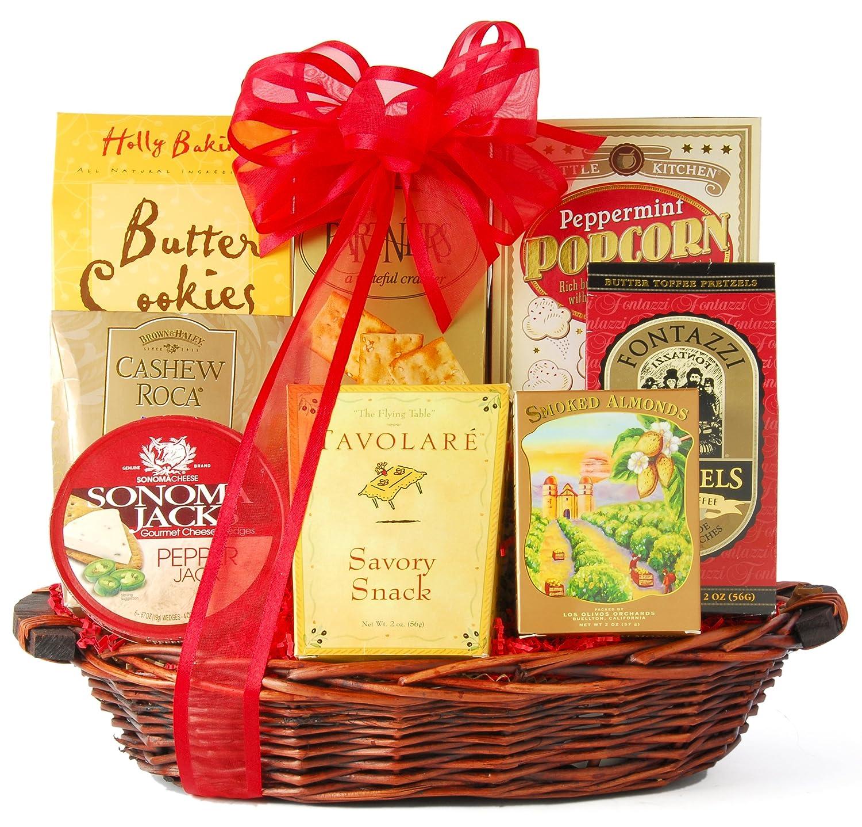 Kitchen Gift Basket Amazoncom Winecom Something Sweet Savory Snack Gift Basket