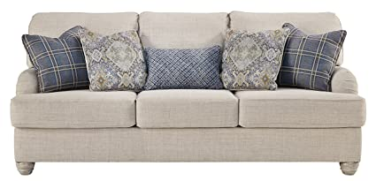 Amazon Com Benchcraft Traemore Casual Upholstered Sofa With