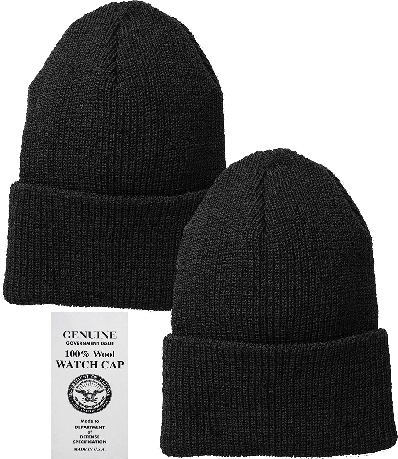 Amazon.com  Black Military Genuine GI US Department of Defense 100% Wool  Watch Cap (2-Pack)  Military Apparel Accessories  Clothing 98a03af8d0f
