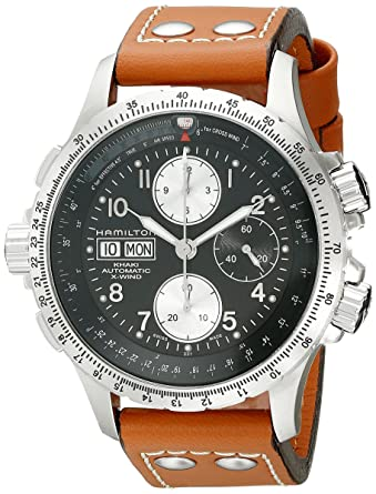 22e0249b065 Hamilton Men s H77616533 Khaki   Dial color - Black X Chronograph Watch