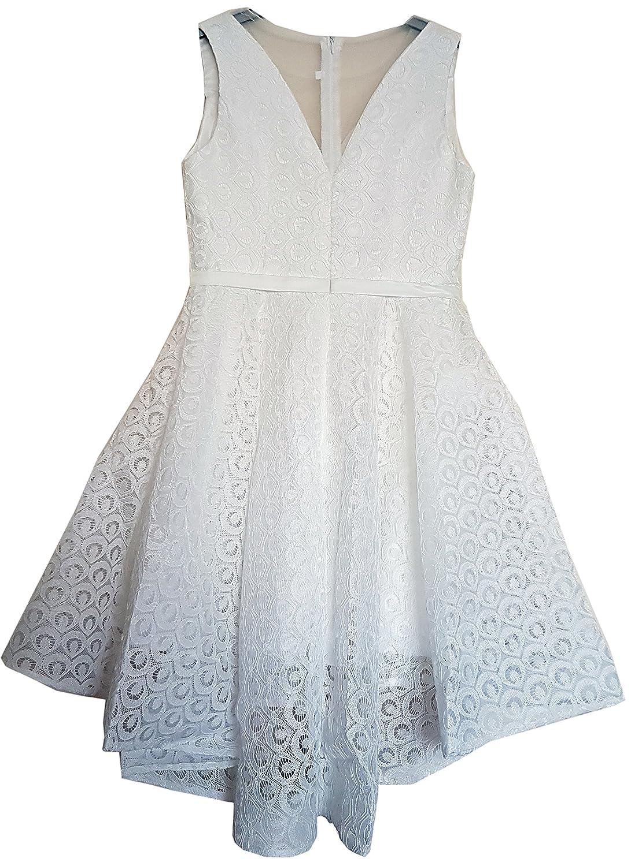 malla de encaje del diseñador el V-cuello de Aimerfeel bellas mujeres modeló el diseñador vestido patinador columpio para vestido de gala fiesta por la noche. talla 36 a06f42