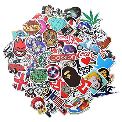Xpassion Stickers [100 PCS] Waterproof Vinyl Stickers, Motorcycle Bicycle Luggage Laptop Decal Graffiti Patches Skateboard Bumper Stickers, No Duplicate Sticker Pack, Not Fade in The Sun: Electronics