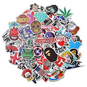 Xpassion Car Stickers Decals Pack 100 Pieces Bumper Stickers Random Patterns