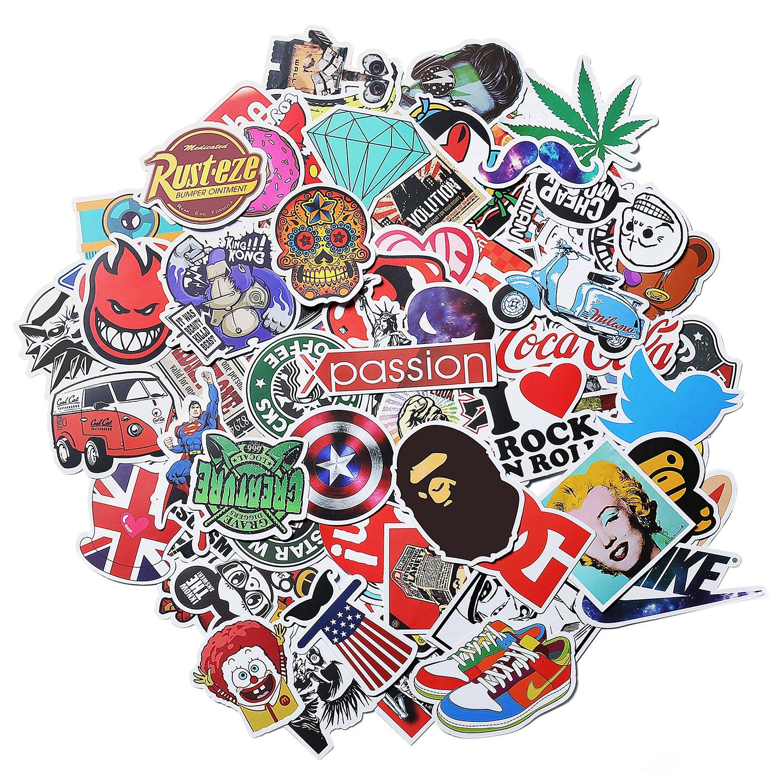 Stickers Calcos 100 un. Surtidos Origen U.S.A. (15EJPK42)