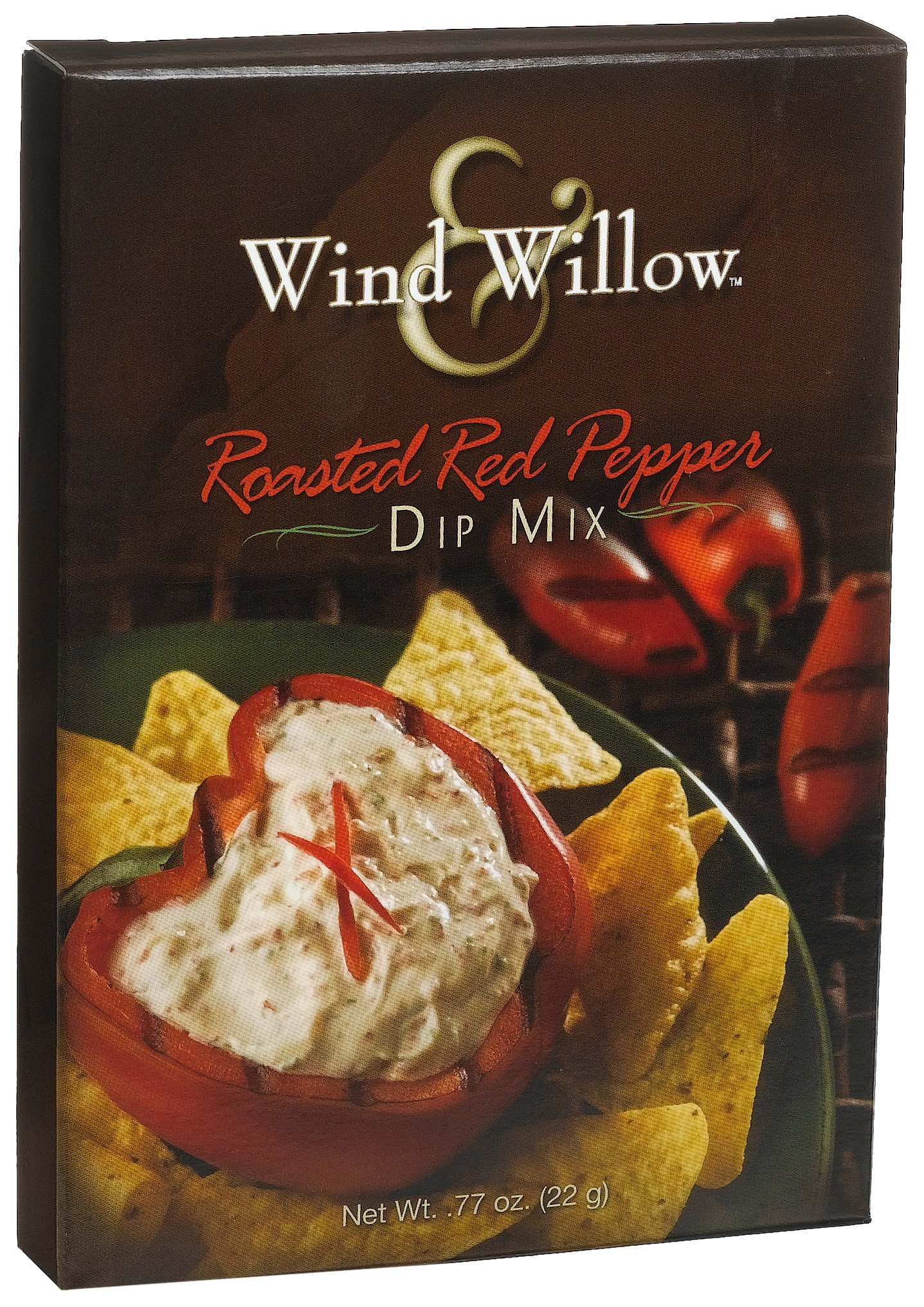 Wind & Willow Roasted Red Pepper Dip, .77-Ounce Boxes (Pack of 6) by Wind & Willow