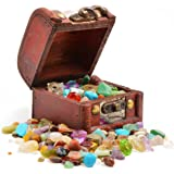 Fossil Gift Shop Pirates' Treasure Chest - Crammed with Gemstones, Pearls and Jewels! (Pack of 1)