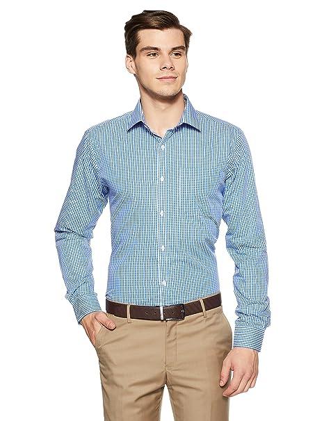 Raymond Men's Plain Slim Fit Formal Shirt Men's Formal Shirts at amazon