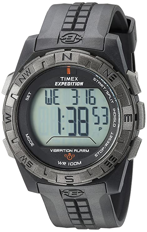 timex men s t498519j expedition rugged digital vibration alarm black rh amazon ca Timex Expedition Field Chrono Timex Expedition Chronograph Manual