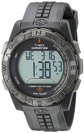 Amazon.com  Timex Men s T49851 Expedition Vibration Alarm Black ... 3e331f95f4