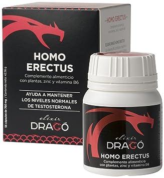 Elixir Dragó Homo Erectus Complemento Alimenticio con Plantas, Zinc y Vitamina B6-56 Cápsulas: Amazon.es: Salud y cuidado personal