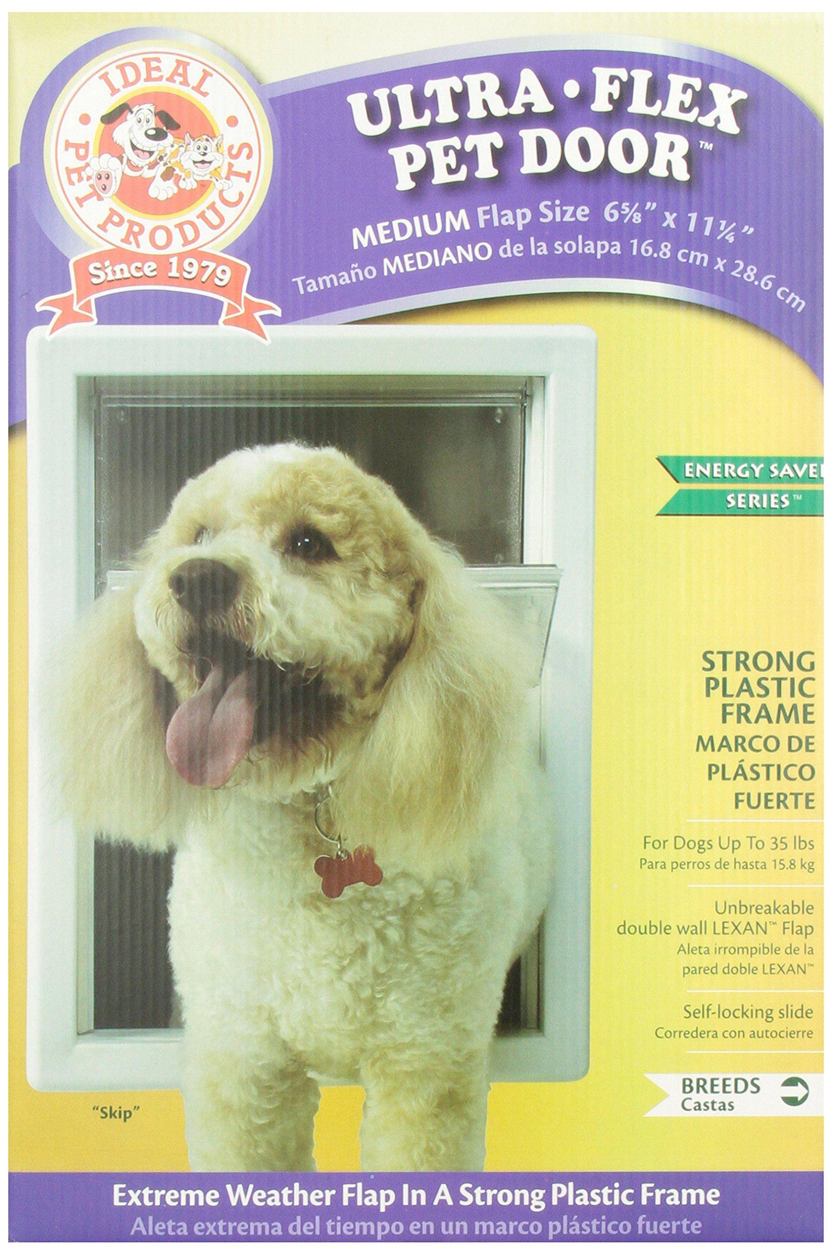 Ideal Pet Products 6 5/8'' x 11 1/4'' Medium Ultra-Flex DraftStopper Pet Door with Telescoping Frame by Ideal Pet Products (Image #1)