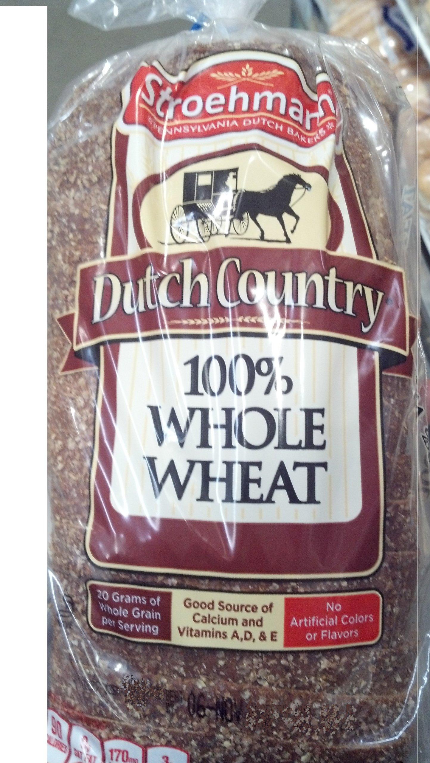 Stroehmann Dutch Country 100% Whole Wheat Bread. 2 Pack