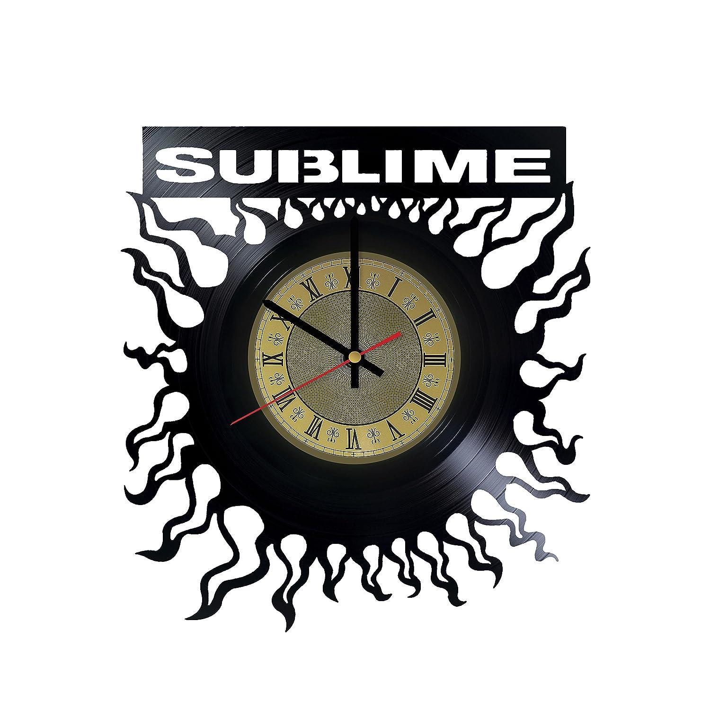 Sublime Band Vinyl Wall Clock Punk Rock Unique Gifts Living Room Home Decor