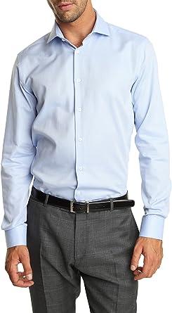 Caramelo, Camisa Vestir Slim Cutaway, Hombre · Azul Claro ...