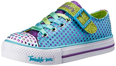 Skechers Kids 10260L Shuffles Mysticals SneakerTurquoise/Purple1.5 M US Little Kid  sc 1 st  Amazon.com : twinkle toes not lighting up - azcodes.com