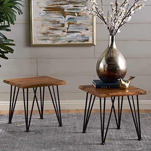 Best living room table: Christopher Knight Home Geania Indoor Industrial Acacia Wood Side Table