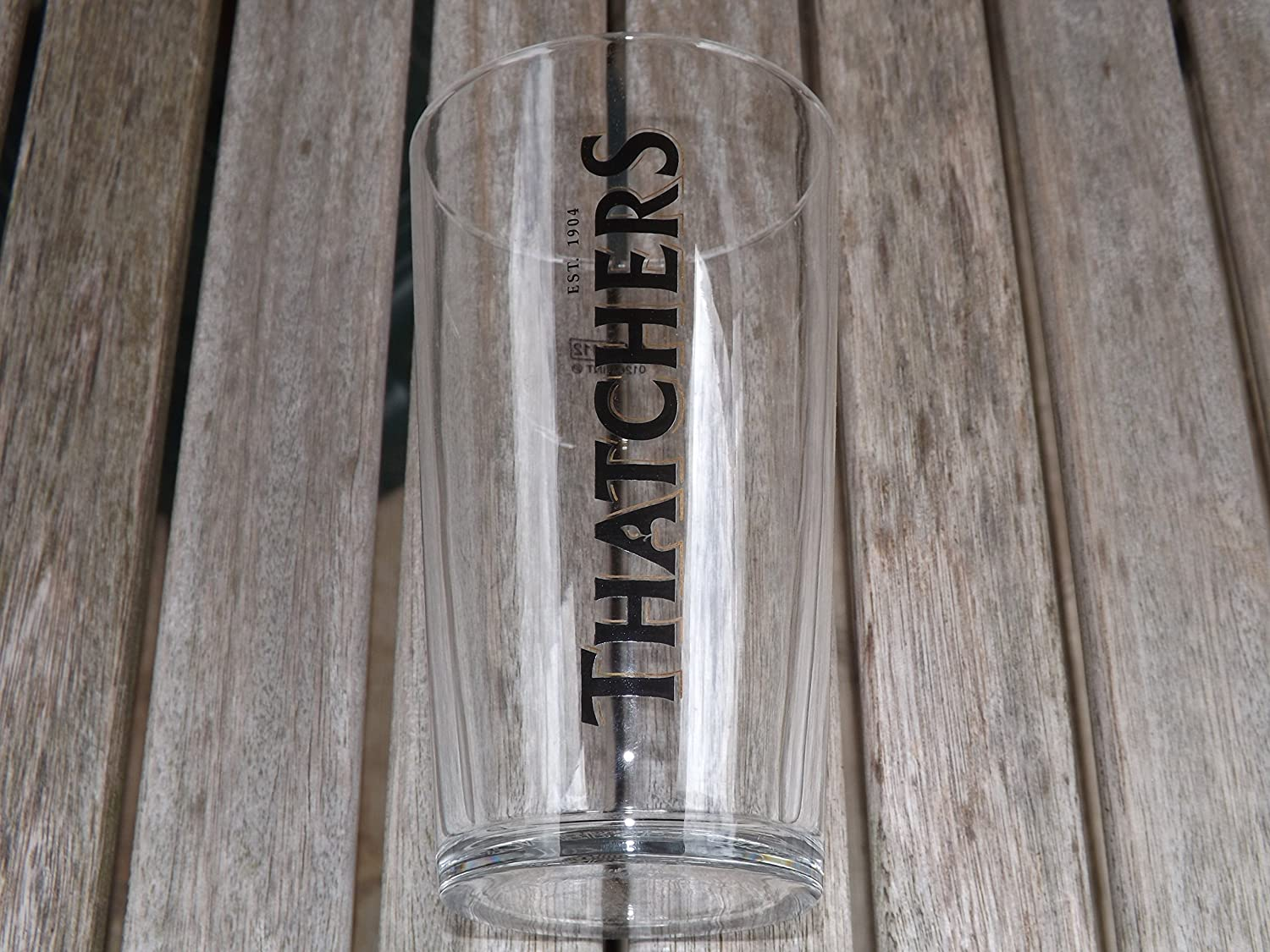 THATCHERS CIDER PINT GLASS