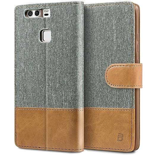 1 opinioni per Cover Huawei P9, BEZ® Custodia Huawei P9 portafoglio, Custodia Protettiva in
