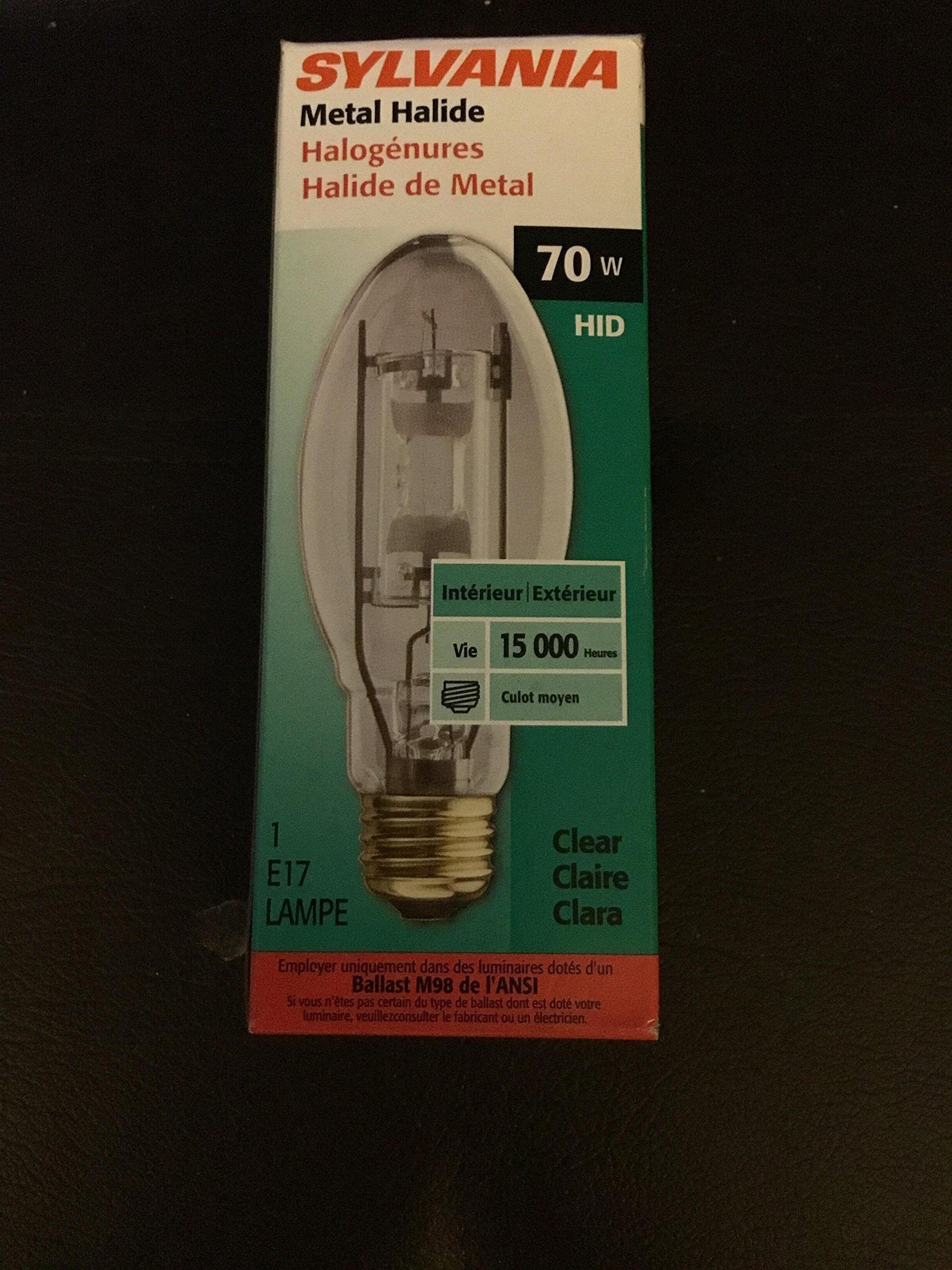 70 Watt HID Metal Halide E17 Clear Bulb