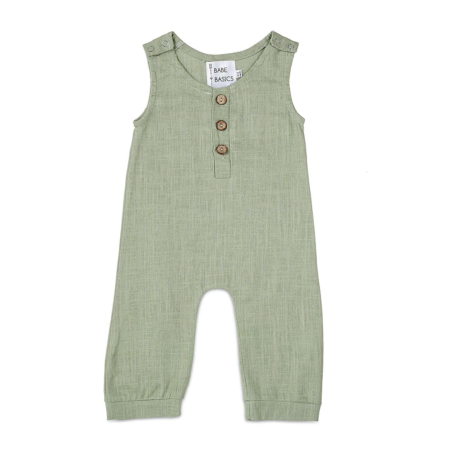 Spring Photoshoot Outfit Blue Baby Boy Spring Romper Babe Basics Linen Baby Romper