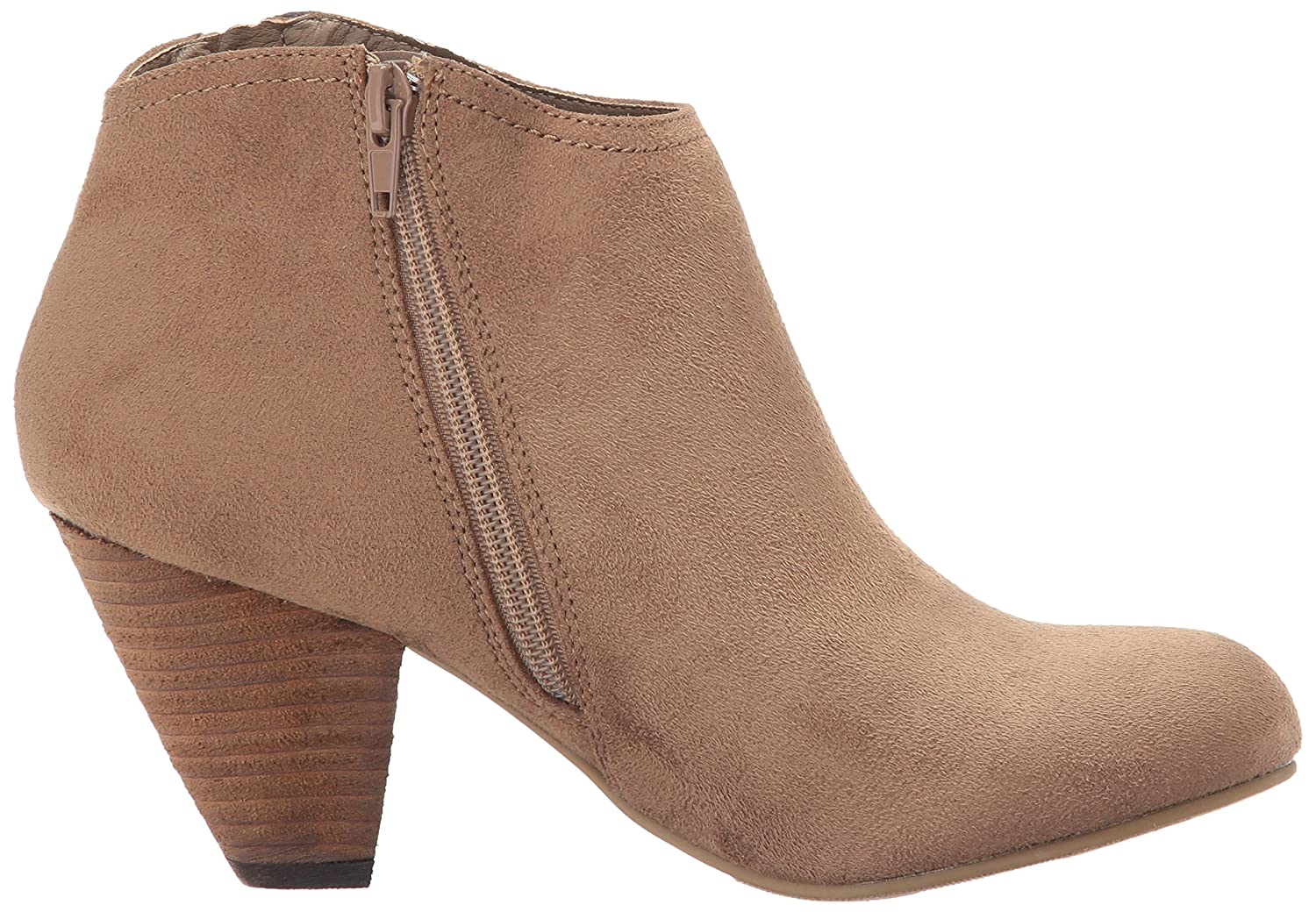 XOXO Women's Amberly Ankle Bootie B071173F3Q 5.5 B(M) US|Taupe