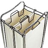 Simple Houseware 2-Bag Heavy Duty Rolling Laundry