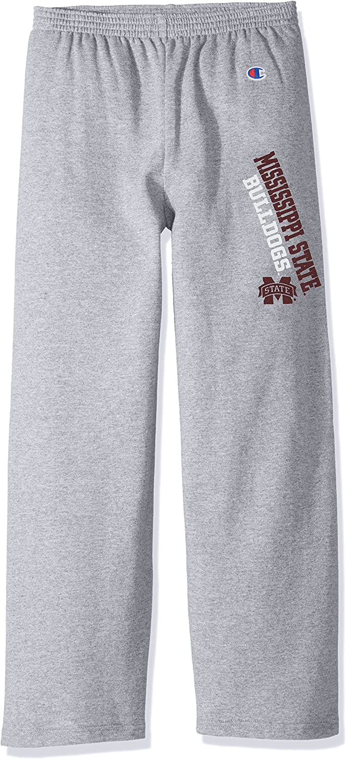 Heather Gray Champion NCAA Mississippi State Bulldogs Youth Boys Eco Powerblend Pant Small