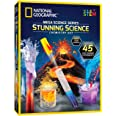 NATIONAL GEOGRAPHIC Stunning Chemistry Set - Mega Science Kit with Over 15 Easy Experiments, Make a Volcano, Launch a Rocket,