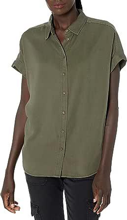 Amazon Brand - Daily Ritual Women's Tencel Relaxed-Fit Short-Sleeve Shirt