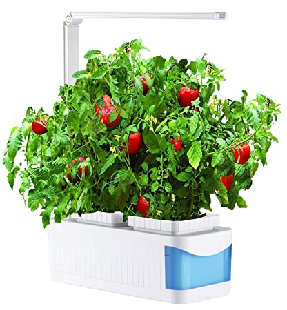 water herb garden led indoor hydroponic herb garden kit for seeds flower and vegetable like - Indoor Vegetable Garden Kit