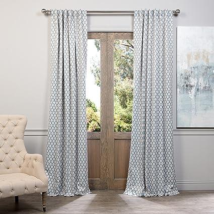 dp drapes half white com blackout curtain black curtains boch price stripe amazon awning
