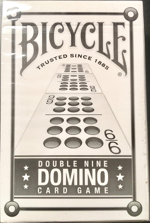 Bicicleta doble nueve dominó juego de cartas: Amazon.es ...