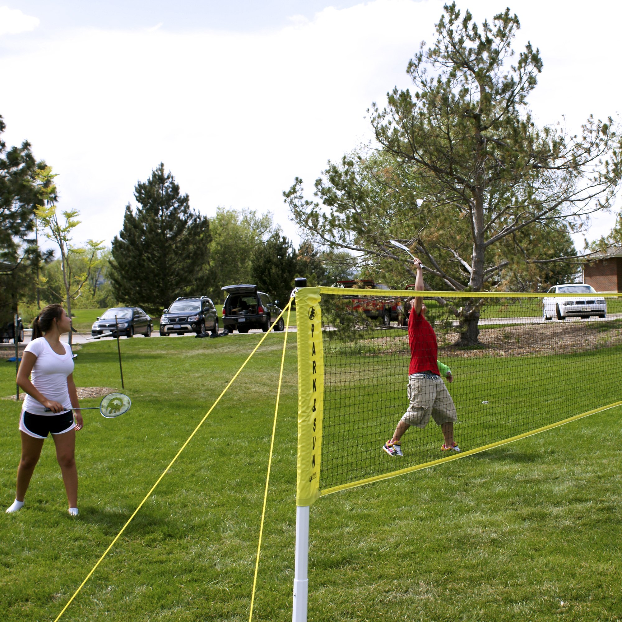 Park & Sun Sports Portable Indoor/Outdoor Badminton Net System with Carrying Bag and Accessories: Tournament Series by Park & Sun Sports (Image #3)
