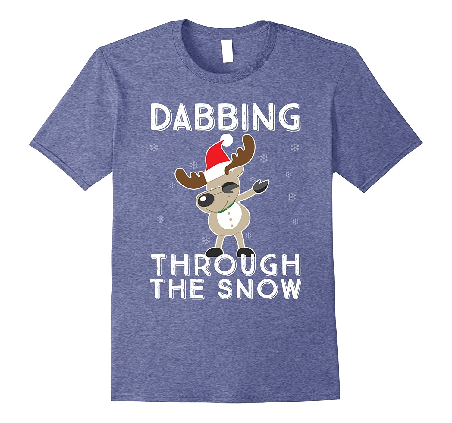 4738119eb Dabbing Through The Snow Reindeer Funny Christmas Dab Tee-ANZ ...