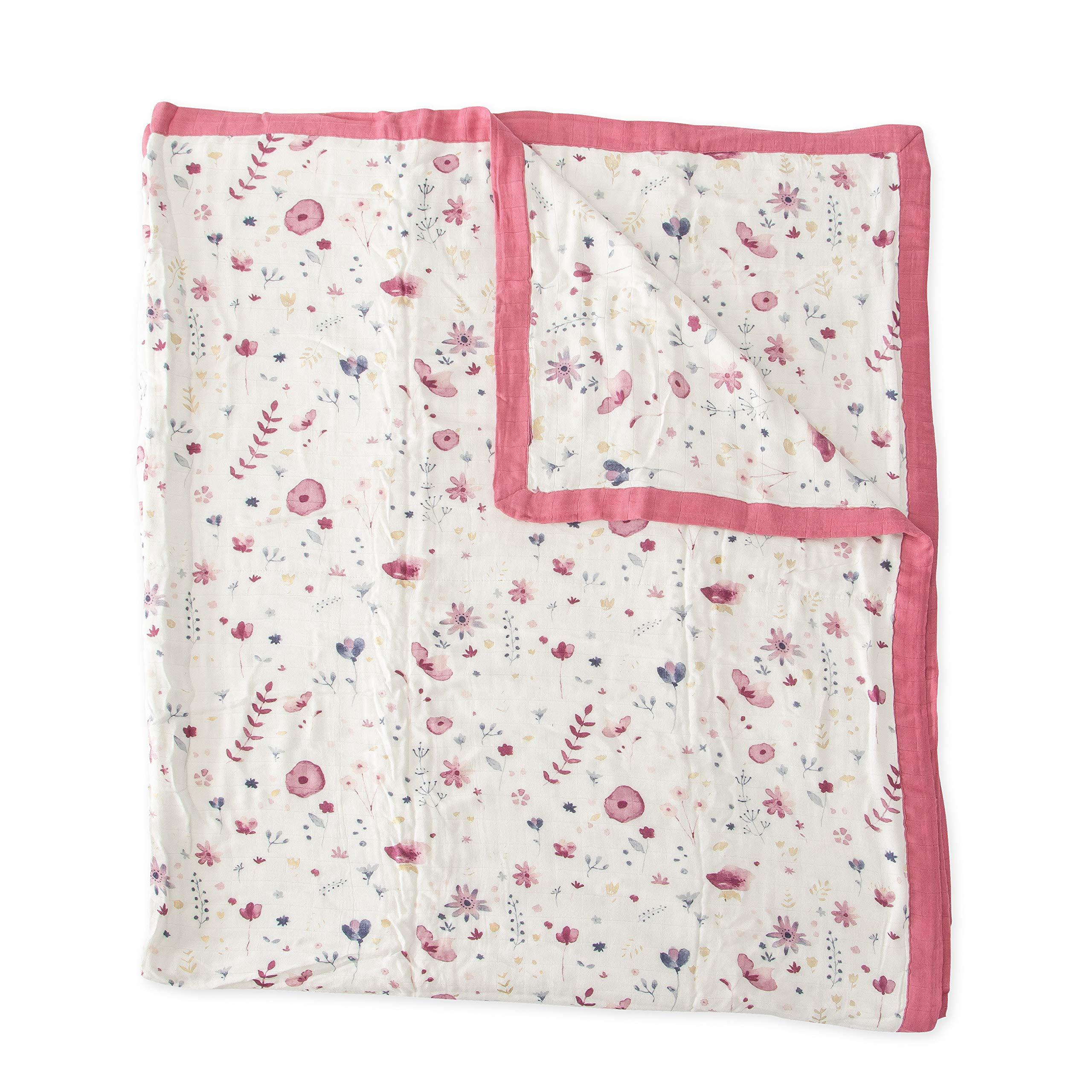 Little Unicorn Extra Soft Deluxe Muslin Large Quilt Blanket - Fairy Garden by Little Unicorn