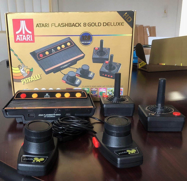 Amazon Com Atari Flashback 8 Gold Console Hdmi 120 Games 2 Wireless