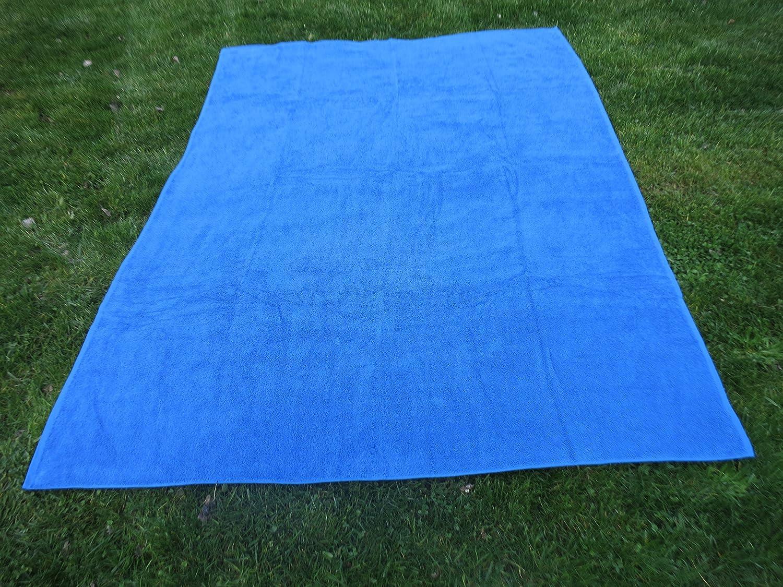 Toalla manta AZULÓN 150x200cm , 100%algodón, 460gr/m2, fabricada en CEE.: Amazon.es: Hogar