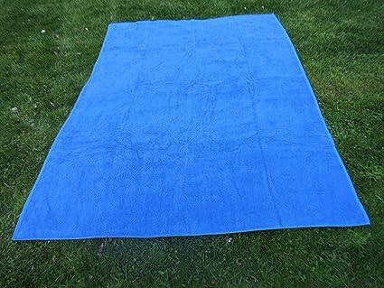 Toalla manta AZULÓN 150x200cm , 100%algodón, 460gr/m2, fabricada en CEE