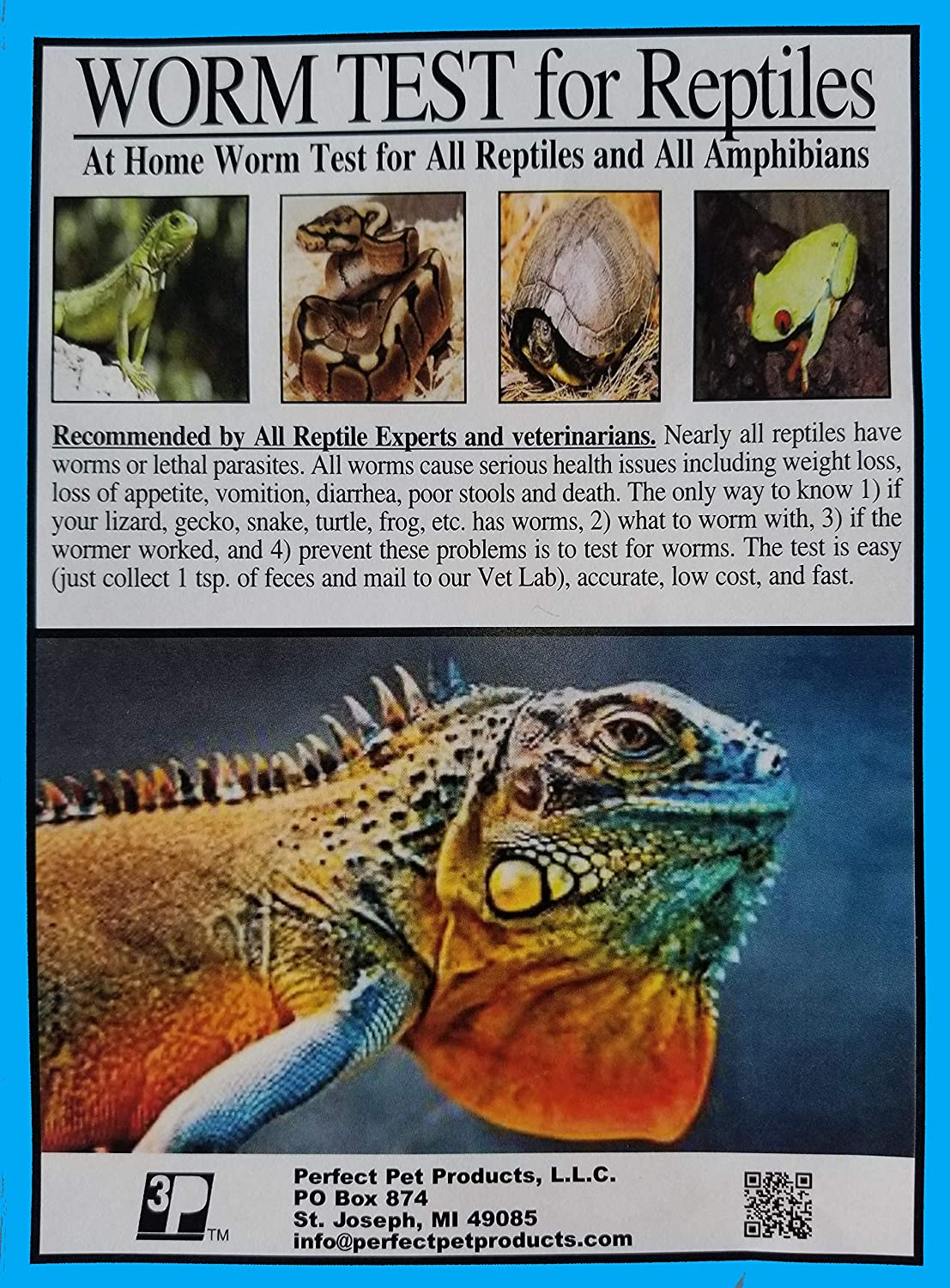 WORM TEST for ALL REPTILES and ALL AMPHIBIANS