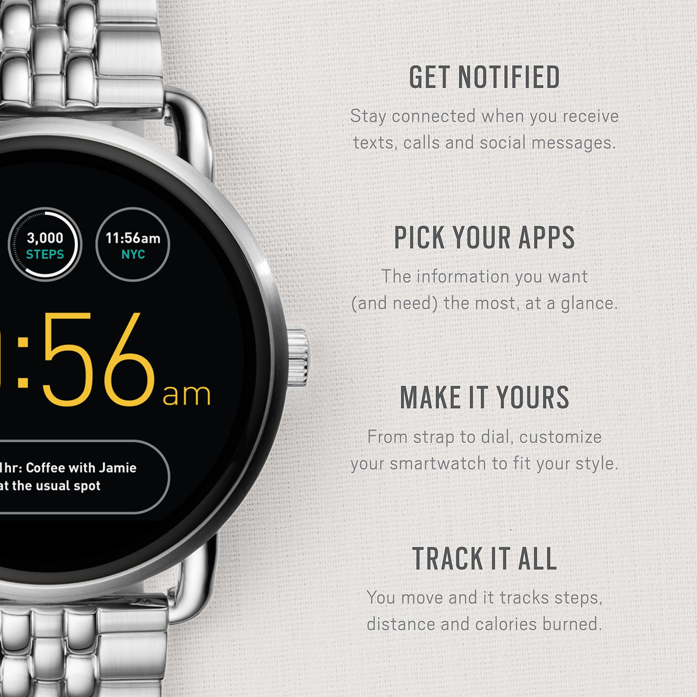 Fossil Q Wander Gen 2 Stainless Steel Touchscreen Smartwatch FTW2111 by Fossil (Image #3)