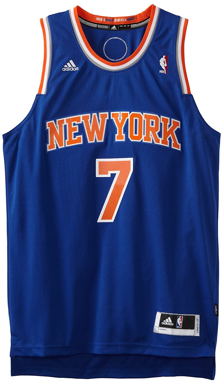 f08c568a2 Amazon.com   NBA New York Knicks Blue Swingman Jersey Carmelo Anthony  7
