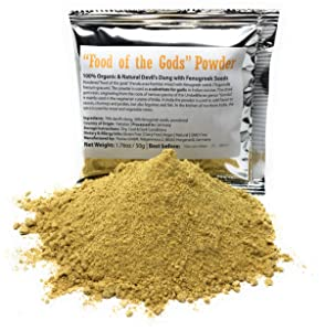 """""""Food of the Gods"""" Asafetida Powder (Asafoetida / Hing) - 100% Organic & Natural Devil's Dung with Fenugreek Seeds - Net Weight: 1.76 Ounces / 50 Grams"""