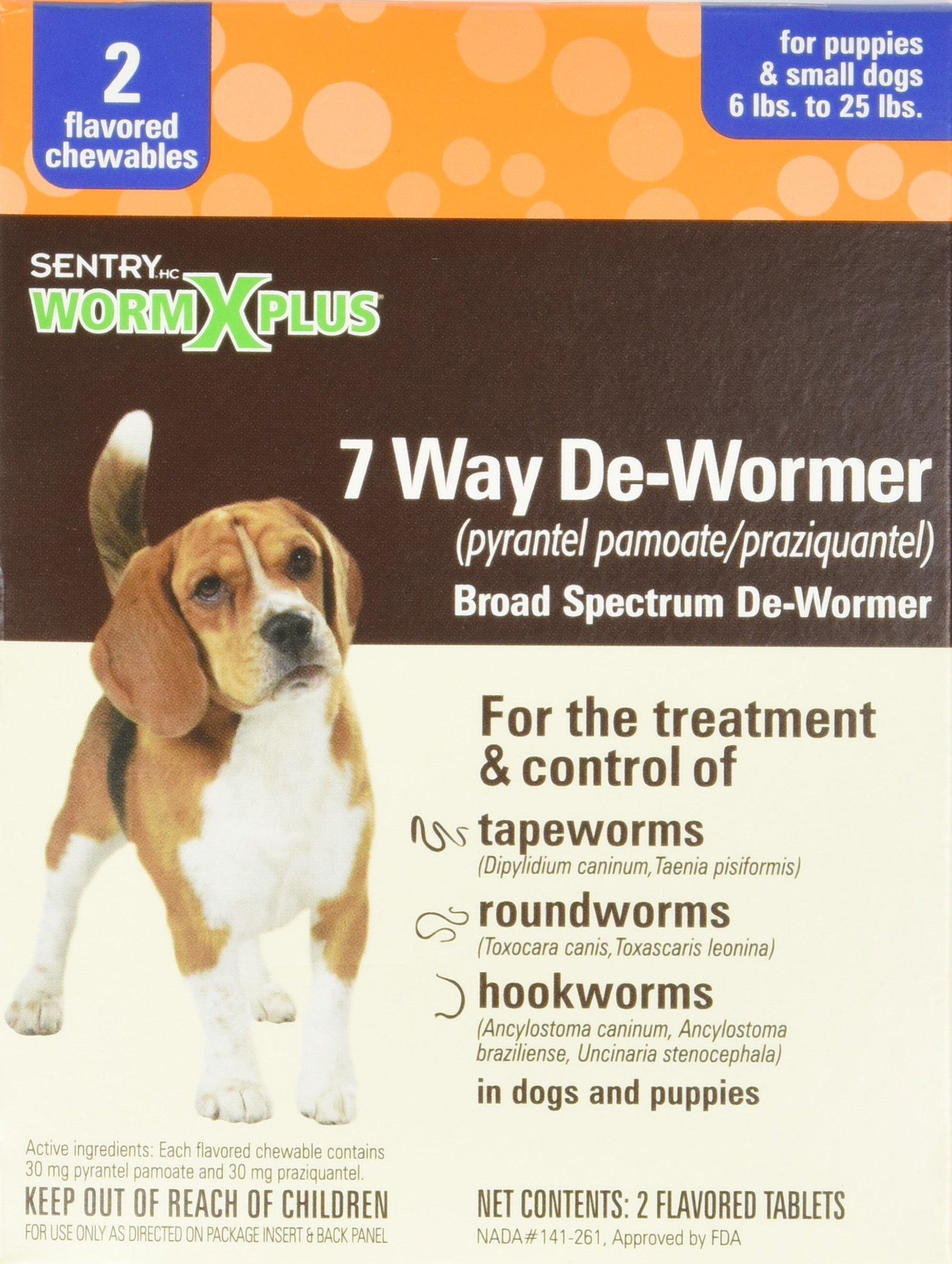 Sergeant's 2CT SM Dog WormX Plus
