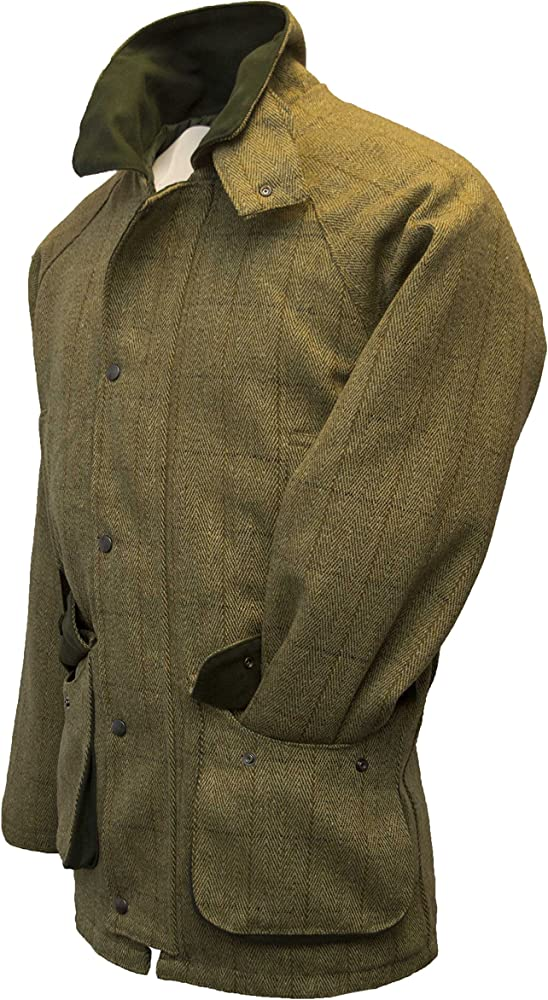 Chaqueta de tweed de Walker and Hawkes, para hombre, para caza, color salvia