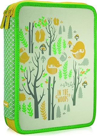 Milan In The Woods Estuches, 25 cm, 2.5 litros, Verde/Amarillo: Amazon.es: Equipaje