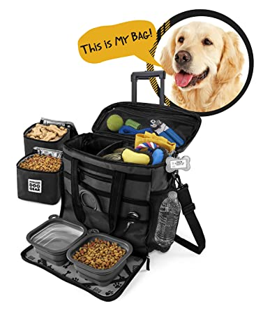 Amazon.com: Bolsa de viaje para perro con ruedas, para ...