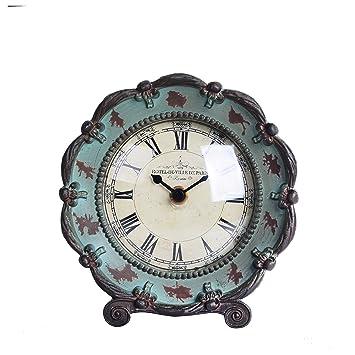 Amazon.com: NIKKY HOME - Reloj de mesa, diseño vintage: Home ...