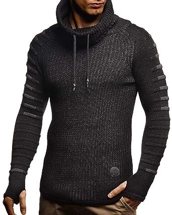 LEIF NELSON Herren Pullover Hoodie Schalkragen | Moderner